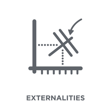 Externalities icon. Externalities design concept from Externalities collection. Simple element vector illustration on white background. Illusztráció