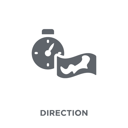 Direction icon. Direction design concept from Camping collection. Simple element vector illustration on white background.