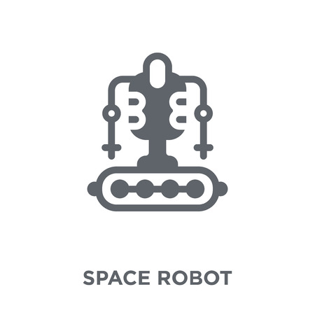 Space robot icon. Space robot design concept from Astronomy collection. Simple element vector illustration on white background.