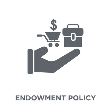 Endowment policy icon. Endowment policy design concept from Endowment policy collection. Simple element vector illustration on white background. Иллюстрация