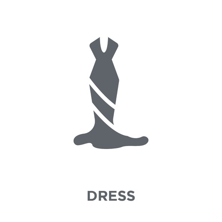 Dress icon. Dress design concept from  collection. Simple element vector illustration on white background.