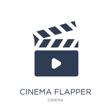 icône de clapet de cinéma. Icône de clapet cinéma vecteur plat sur fond blanc de la collection cinéma, illustration vectorielle peut être utilisé pour le web et mobile Vecteurs