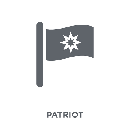 Patriot icon. Patriot design concept from Army collection. Simple element vector illustration on white background. Illustration