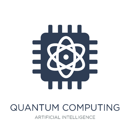 Quantum computing icon. Trendy flat vector Quantum computing icon on white background from Artificial Intelligence, Future Technology collection, vector illustration can be use for web and mobile, eps10