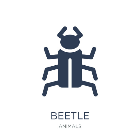 Trendy flat vector Bug icon on white background from animals collection, vector illustration can be use for web and mobile Illustration