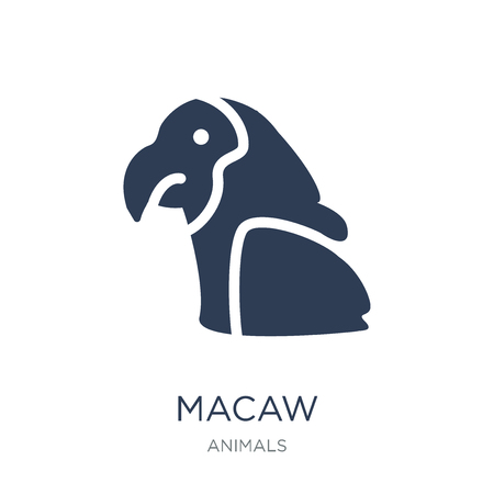 Macaw icon. Trendy flat vector Macaw icon on white background from animals collection, vector illustration can be use for web and mobile, eps10  イラスト・ベクター素材