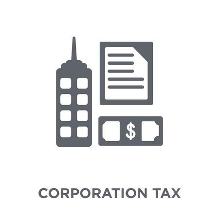 Corporation tax icon. Corporation tax design concept from Corporation tax collection. Simple element vector illustration on white background.