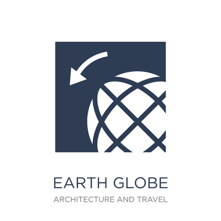 Earth globe icon. Trendy flat vector Earth globe icon on white background from Architecture and Travel collection, vector illustration can be use for web and mobile, eps10 Ilustrace
