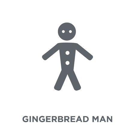 Gingerbread man icon. Gingerbread man design concept from Christmas collection. Simple element vector illustration on white background.