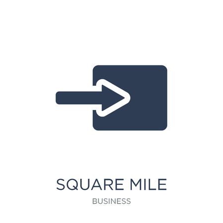 Square Mile icon. Trendy flat vector Square Mile icon on white background from business collection, vector illustration can be use for web and mobile, eps10