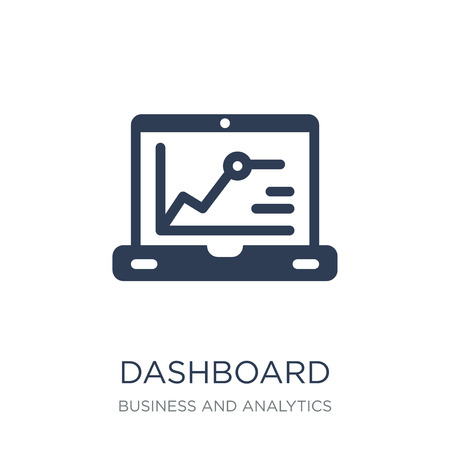 Dashboard icon. Trendy flat vector Dashboard icon on white background from Business and analytics collection, vector illustration can be use for web and mobile, eps10