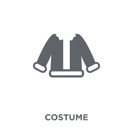 Costume icon. Costume design concept from Christmas collection. Simple element vector illustration on white background.