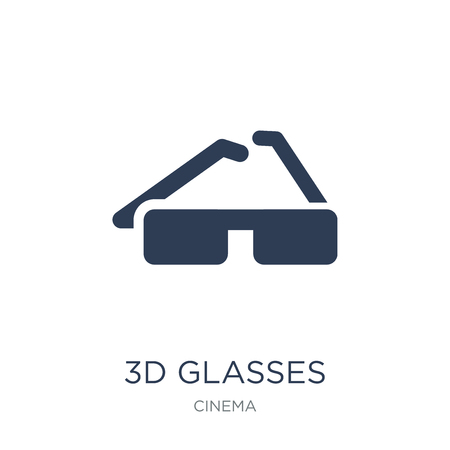 3d glasses icon. Trendy flat vector 3d glasses icon on white background from Cinema collection, vector illustration can be use for web and mobile, eps10