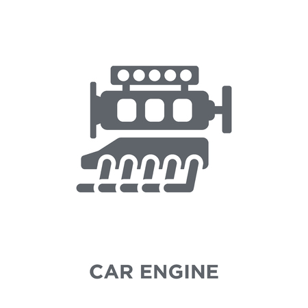 car engine icon. car engine design concept from Car parts collection. Simple element vector illustration on white background.