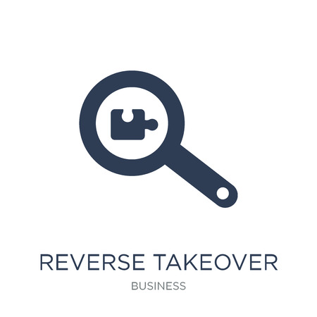 Reverse takeover icon. Trendy flat vector Reverse takeover icon on white background from business collection, vector illustration can be use for web and mobile, eps10