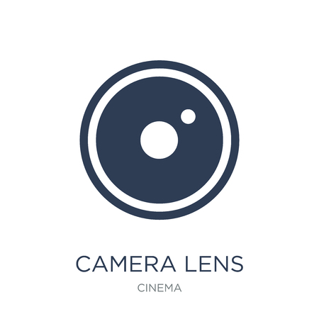 camera lens icon. Trendy flat vector camera lens icon on white background from Cinema collection, vector illustration can be use for web and mobile, eps10