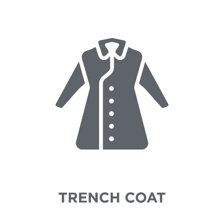 Trench Coat icon. Trench Coat design concept from  collection. Simple element vector illustration on white background.