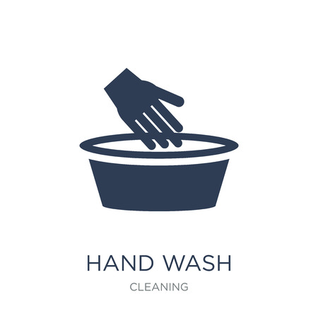 Hand wash icon. Trendy flat vector Hand wash icon on white background from Cleaning collection, vector illustration can be use for web and mobile, eps10 Vectores