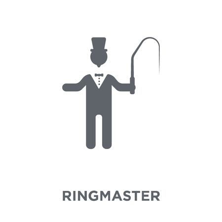 ringmaster icon. ringmaster design concept from Circus collection. Simple element vector illustration on white background. Illustration