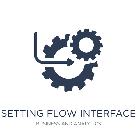 Setting flow interface symbol icon. Trendy flat vector Setting flow interface symbol icon on white background from Business and analytics collection, vector illustration can be use for web and mobile, eps10