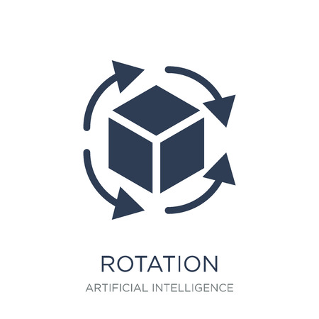 Rotation icon. Trendy flat vector Rotation icon on white background from Artificial Intelligence, Future Technology collection, vector illustration can be use for web and mobile, eps10