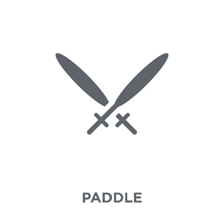 Paddle icon. Paddle design concept from Camping collection. Simple element vector illustration on white background.