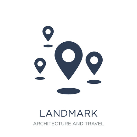 Landmark icon. Trendy flat vector Landmark icon on white background from Architecture and Travel collection, vector illustration can be use for web and mobile, eps10