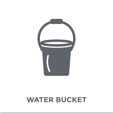 water Bucket icon. water Bucket design concept from Agriculture, Farming and Gardening collection. Simple element vector illustration on white background. Illustration