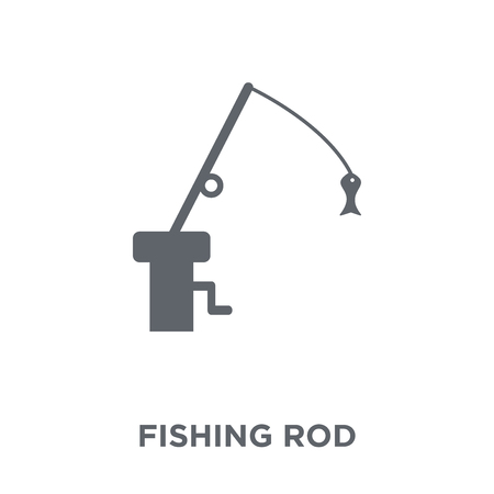 Fishing Rod icon. Fishing Rod design concept from Camping collection. Simple element vector illustration on white background. 일러스트