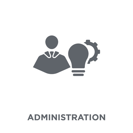 Administration icon. Administration design concept from Administration collection. Simple element vector illustration on white background. Иллюстрация