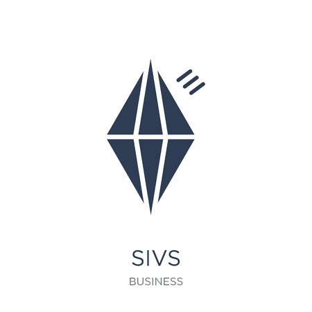 SIVs icon. Trendy flat vector SIVs icon on white background from business collection, vector illustration can be use for web and mobile, eps10