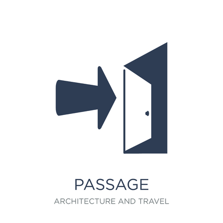passage icon. Trendy flat vector passage icon on white background from Architecture and Travel collection, vector illustration can be use for web and mobile, eps10  イラスト・ベクター素材