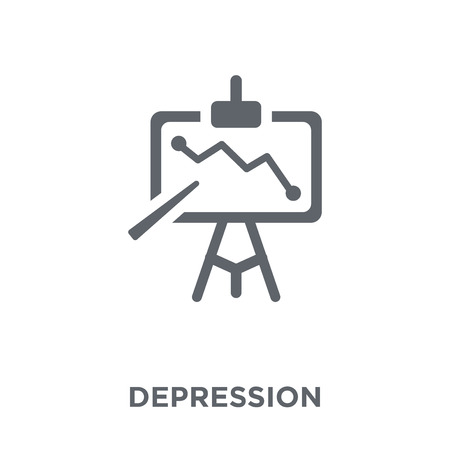 Depression icon. Depression design concept from Diseases collection. Simple element vector illustration on white background. Ilustrace
