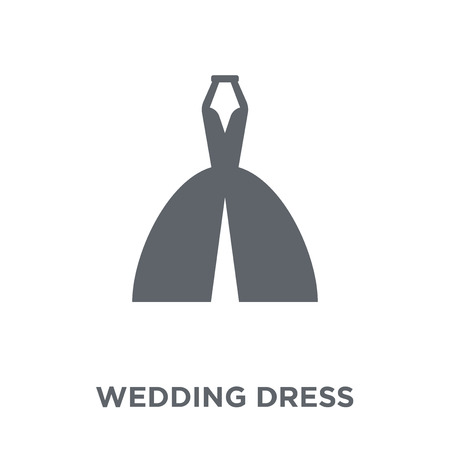 Wedding dress icon. Wedding dress design concept from Wedding and love collection. Simple element vector illustration on white background. 版權商用圖片 - 111923321