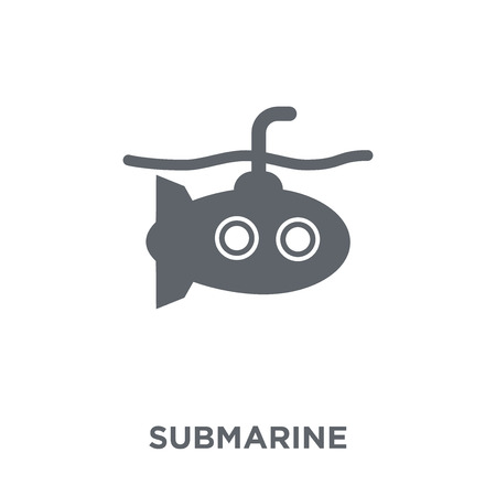 Submarine icon. Submarine design concept from Army collection. Simple element vector illustration on white background.