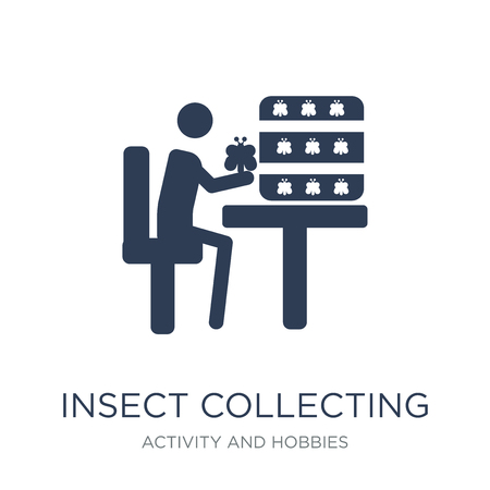 Insect collecting icon. Trendy flat vector Insect collecting icon on white background from Activity and Hobbies collection, vector illustration can be use for web and mobile, eps10