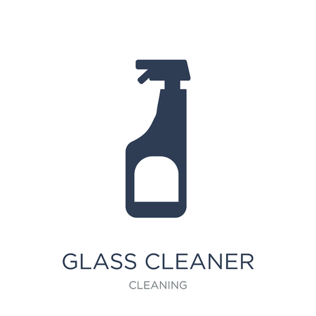 Glass cleaner icon. Trendy flat vector Glass cleaner icon on white background from Cleaning collection, vector illustration can be use for web and mobile, eps10 版權商用圖片 - 111944762