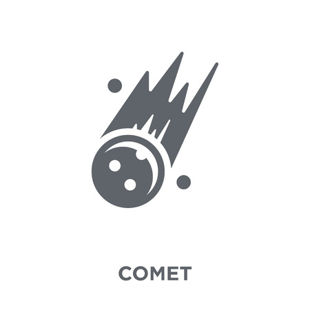 Comet icon. Comet design concept from Astronomy collection. Simple element vector illustration on white background.