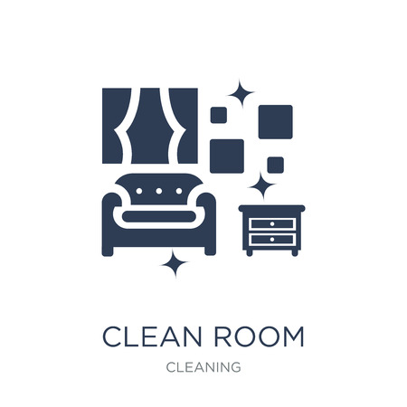 Clean Room icon. Trendy flat vector Clean Room icon on white background from Cleaning collection, vector illustration can be use for web and mobile, eps10