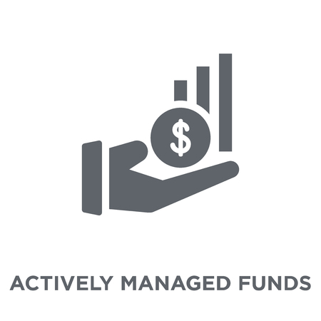 Actively managed funds icon. Actively managed funds design concept from Actively managed funds collection. Simple element vector illustration on white background.