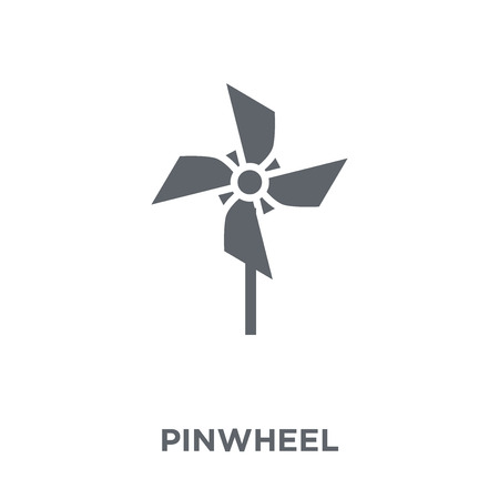 Pinwheel icon. Pinwheel design concept from Agriculture, Farming and Gardening collection. Simple element vector illustration on white background.