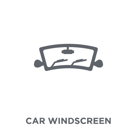 car windscreen icon. car windscreen design concept from Car parts collection. Simple element vector illustration on white background.