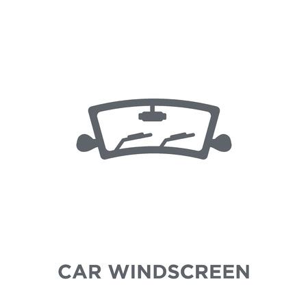 icône de pare-brise de voiture. concept de design de pare-brise de voiture de la collection de pièces de voiture. Illustration vectorielle élément simple sur fond blanc.