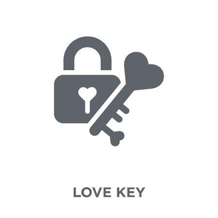 love Key icon. love Key design concept from Wedding and love collection. Simple element vector illustration on white background.