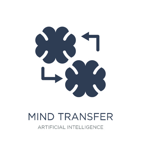 Mind transfer icon. Trendy flat vector Mind transfer icon on white background from Artificial Intelligence, Future Technology collection, vector illustration can be use for web and mobile, eps10