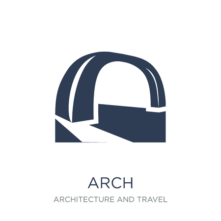 Arch icon. Trendy flat vector Arch icon on white background from Architecture and Travel collection, vector illustration can be use for web and mobile, eps10
