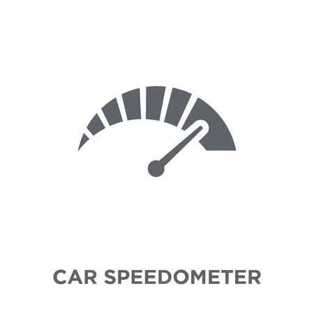 car speedometer icon. car speedometer design concept from  collection. Simple element vector illustration on white background. Ilustrace