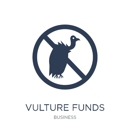 Vulture funds icon. Trendy flat vector Vulture funds icon on white background from business collection, vector illustration can be use for web and mobile, eps10 Banco de Imagens - 111918959