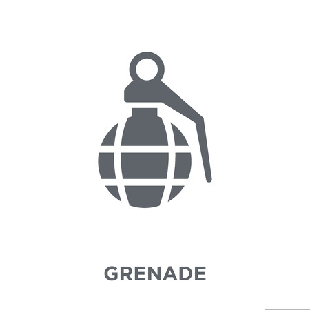 Grenade icon. Grenade design concept from Army collection. Simple element vector illustration on white background. Banco de Imagens - 111918967