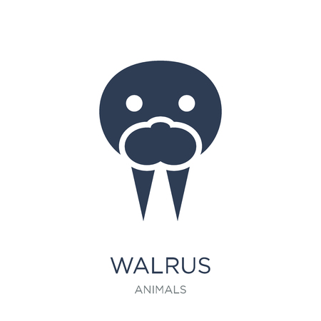 Walrus icon. Trendy flat vector Walrus icon on white background from animals collection, vector illustration can be use for web and mobile, eps10